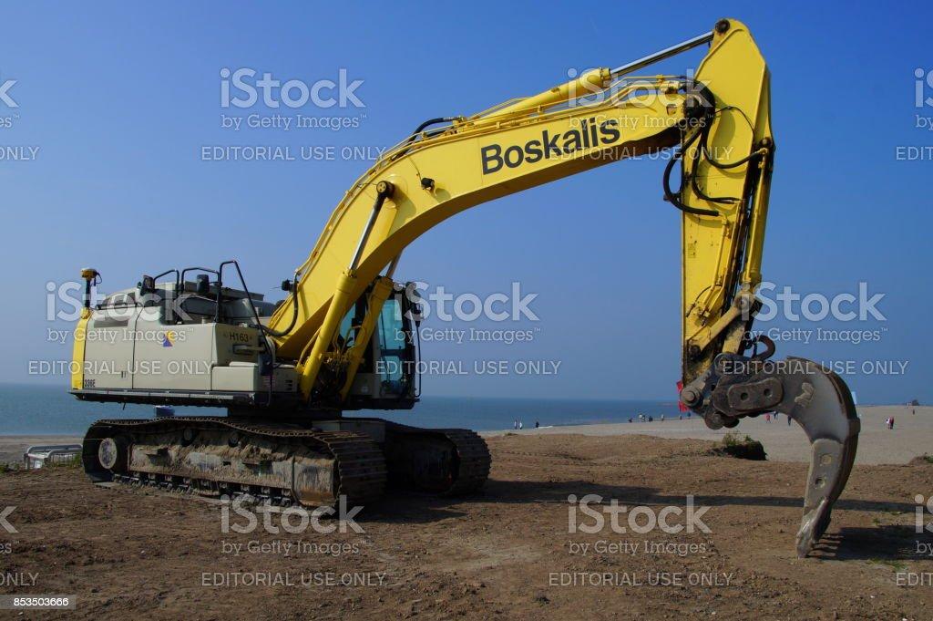 Boskalis Caterpillar (CAT) hydraulische graafmachine - Royalty-free Apparatuur Stockfoto