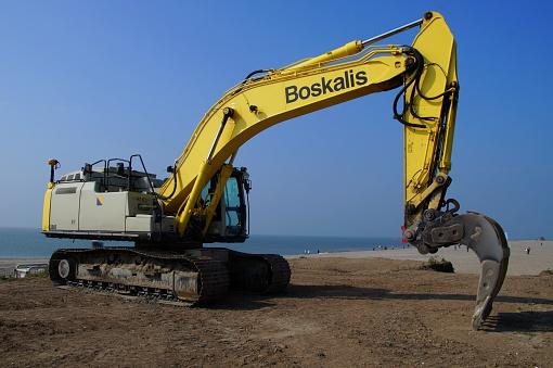 Boskalis Caterpillar Hydraulische Graafmachine Stockfoto en meer beelden van Apparatuur