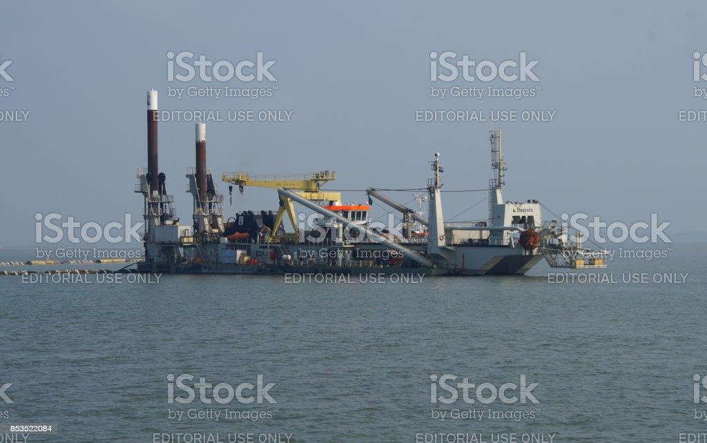 Boskalis cutter zuig dredger (CSD) Edax - Royalty-free Baggerschip Stockfoto