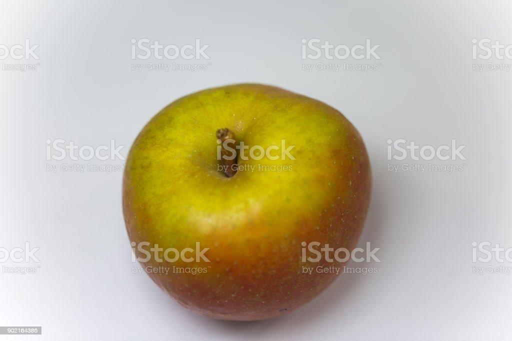boskop apple on white background stock photo