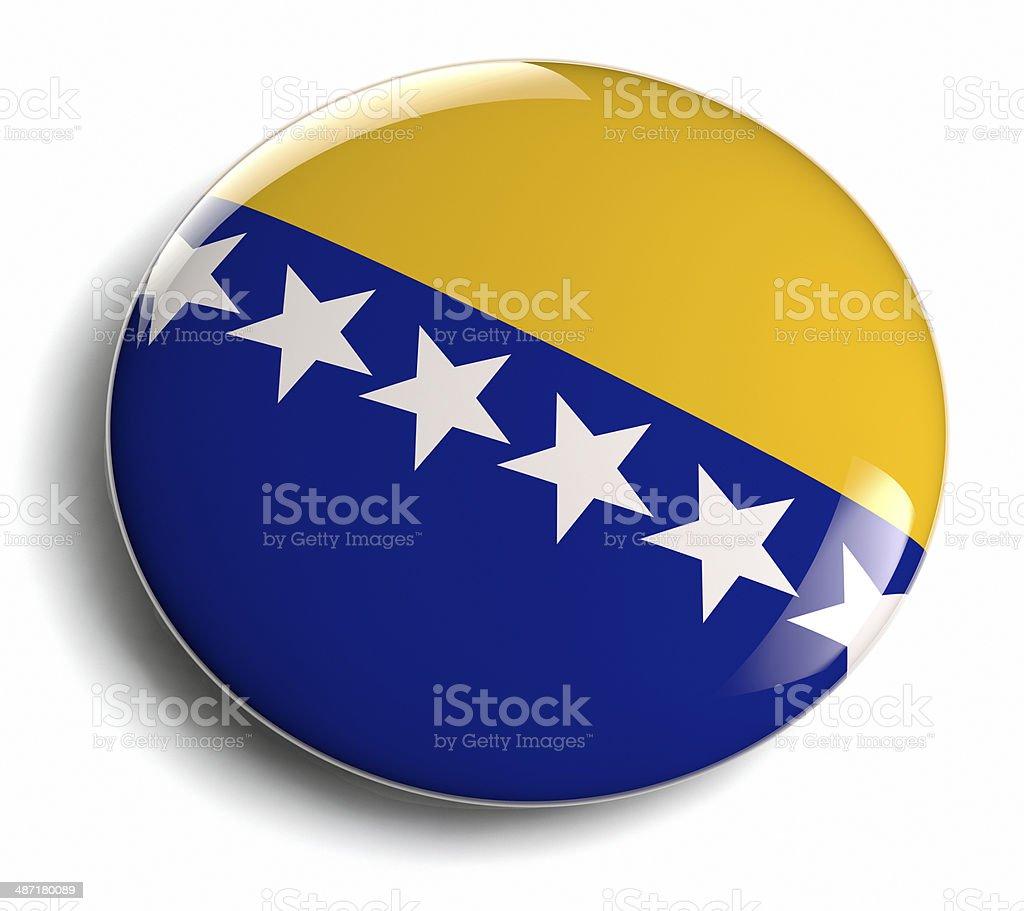 Bosnia and Herzegovina flag royalty-free stock photo