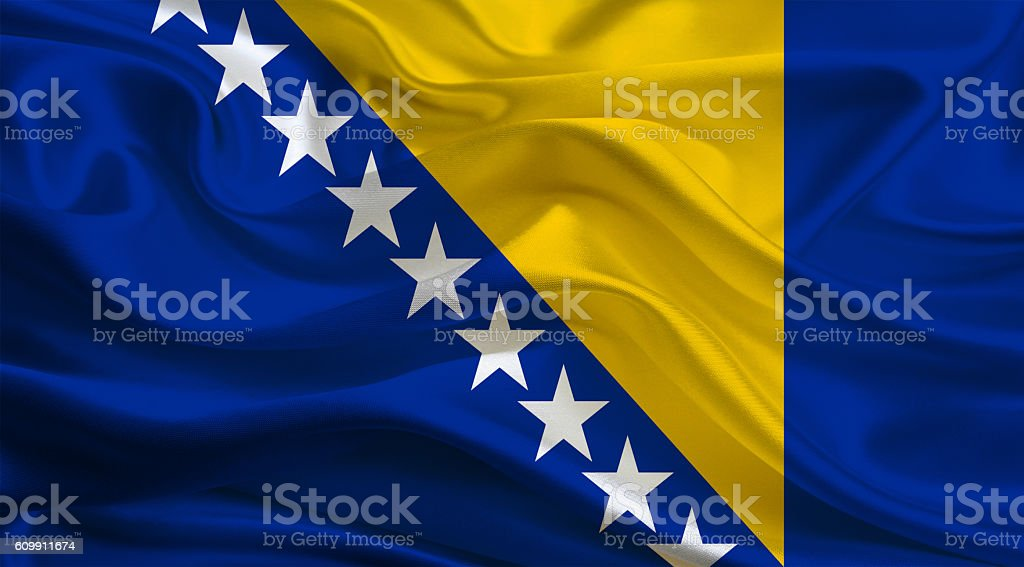 Bosnia Herzegovinan Flag stock photo