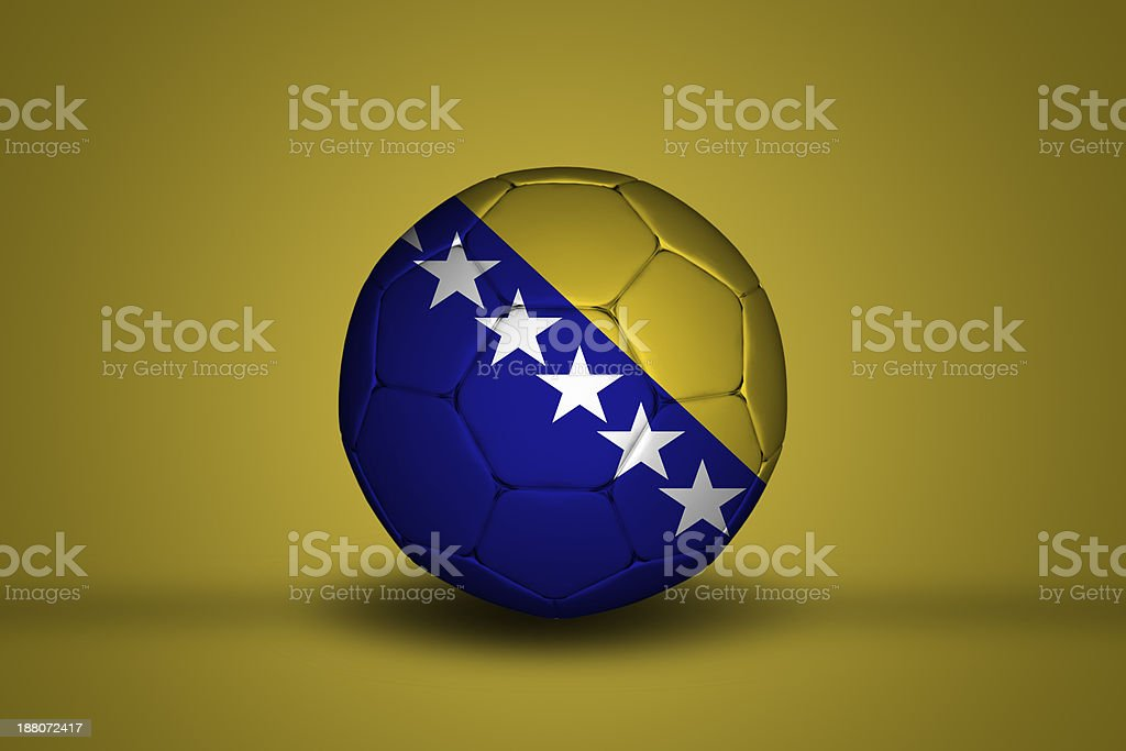 Bosnia Herzegovinan soccer bal stock photo