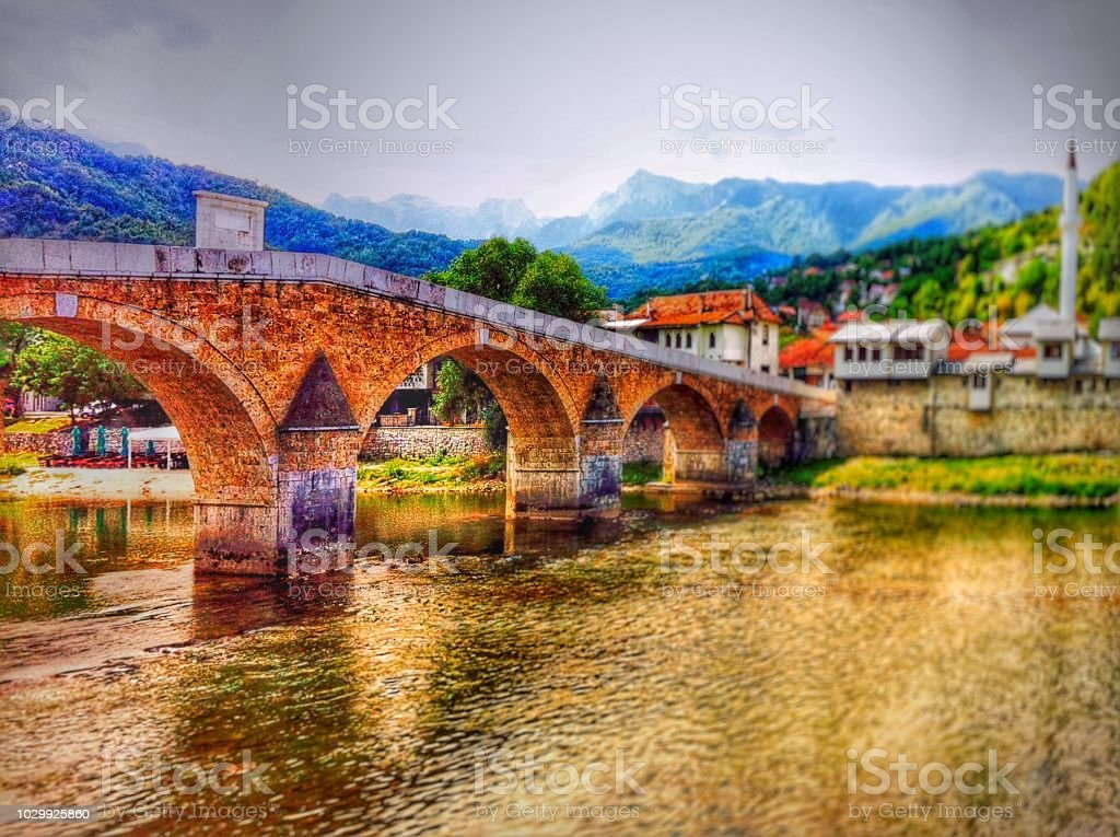 Bosnian Bridge stock photo