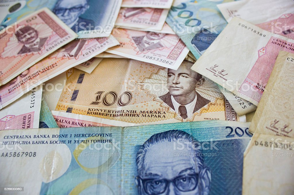 Bosnian money stock photo