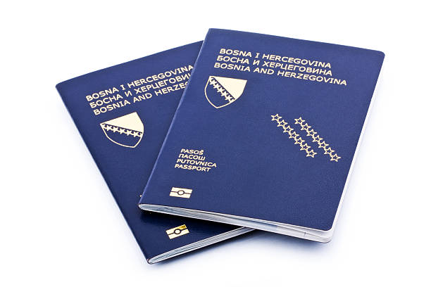 bosnian passport - lepro stock pictures, royalty-free photos & images