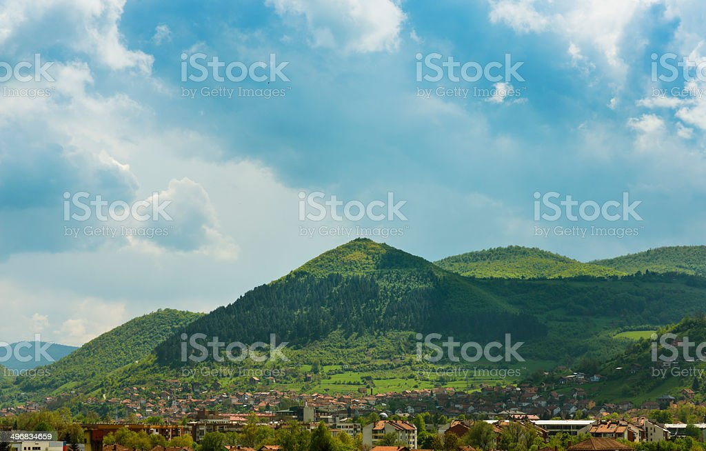Bosnian Pyramid of the Sun stock photo