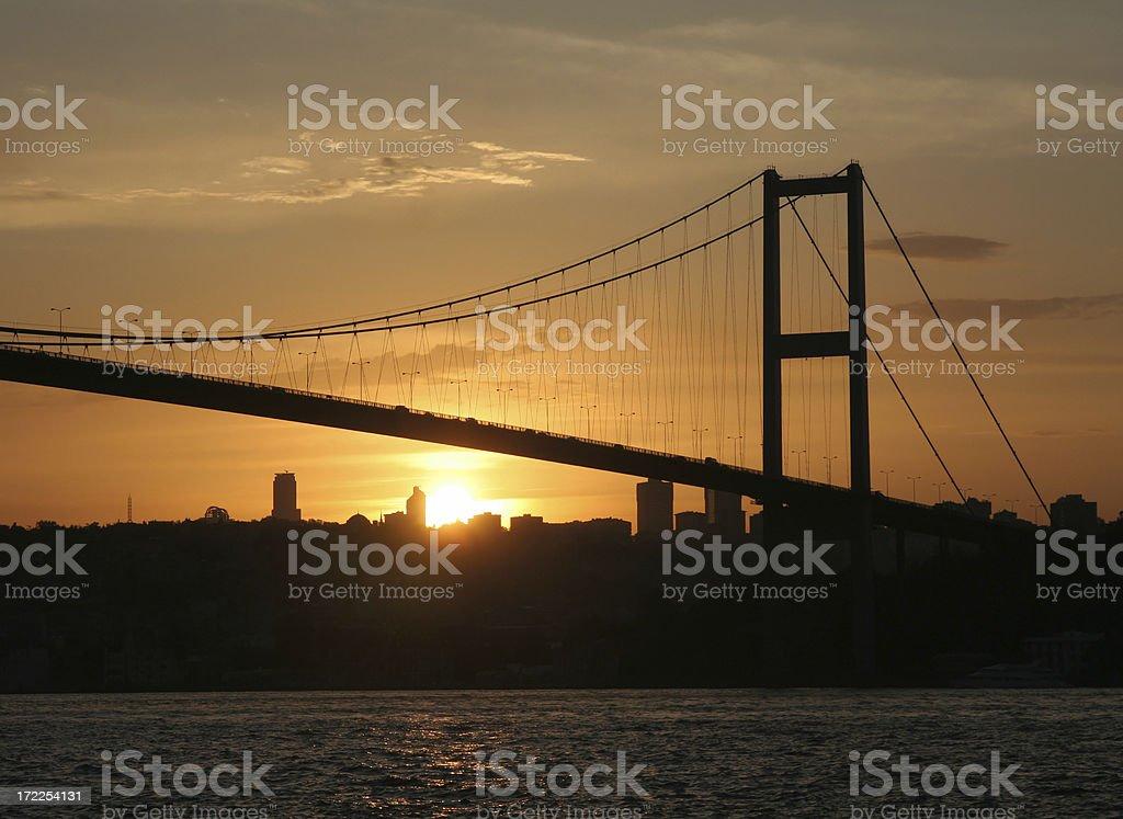 Bosphorus Bridge - 5 royalty-free stock photo