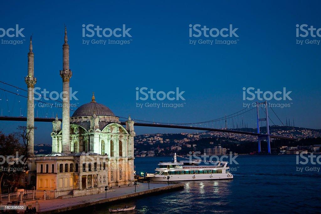 Bosphorus Bridge and Ortakoy Mosque Istanbul royalty-free stock photo