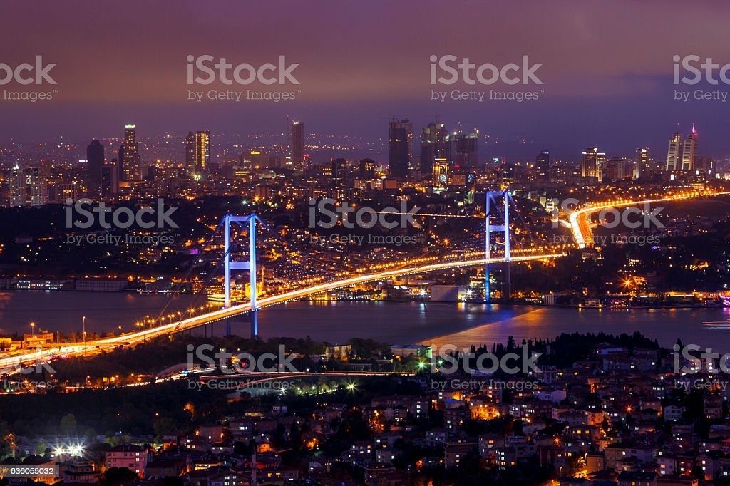 Bosphorus Bridge, Istanbul stock photo
