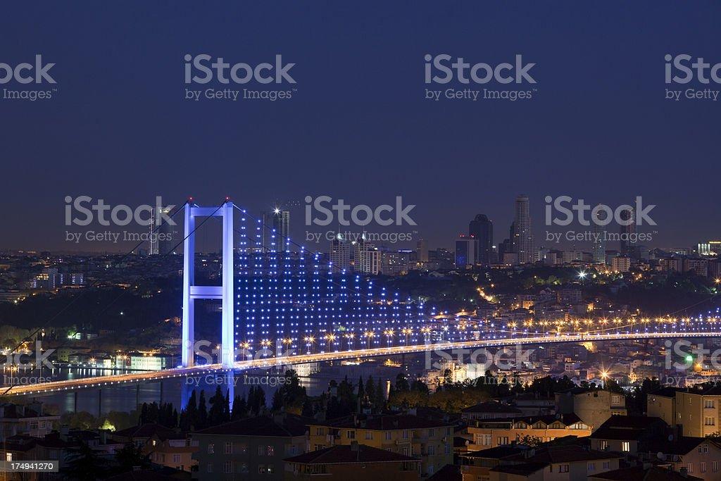 Bosphorus Bridge, Istanbul, Turkey royalty-free stock photo