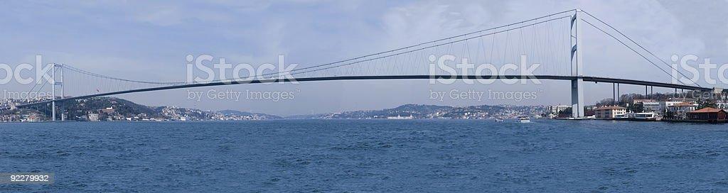 Bosphorus Bridge Panoramic royalty-free stock photo