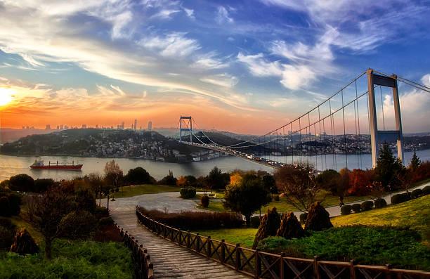 босфорский мост - стамбул стоковые фото и изображения
