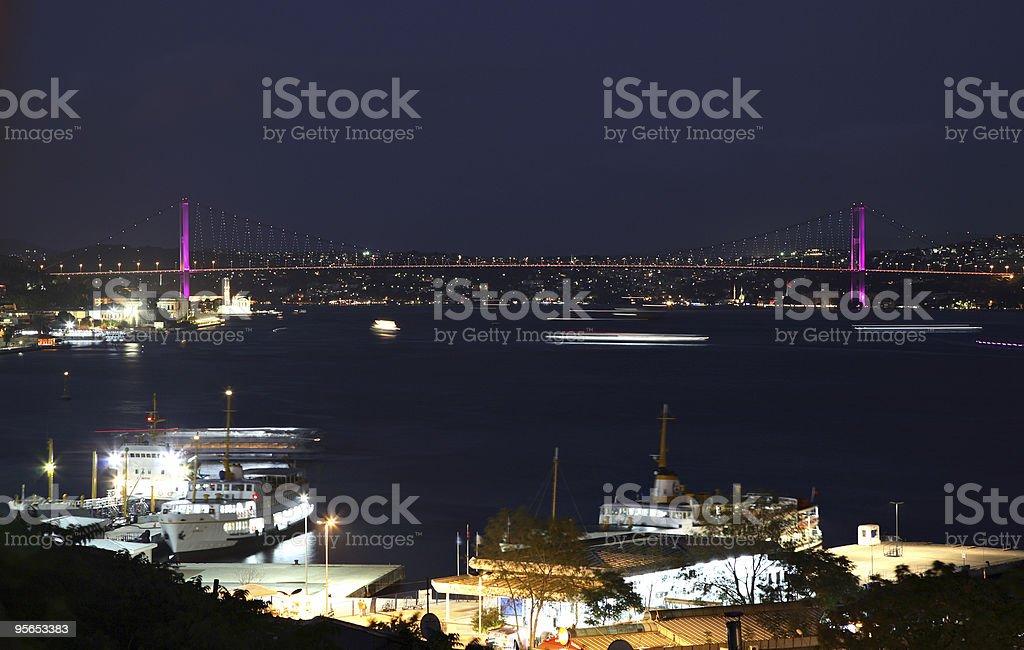 Bosporus-Brücke - Lizenzfrei Bosporus Stock-Foto