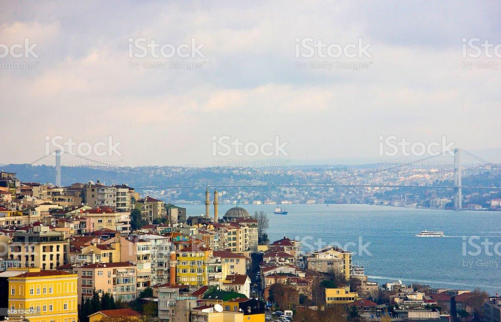 Bosphorus view stock photo