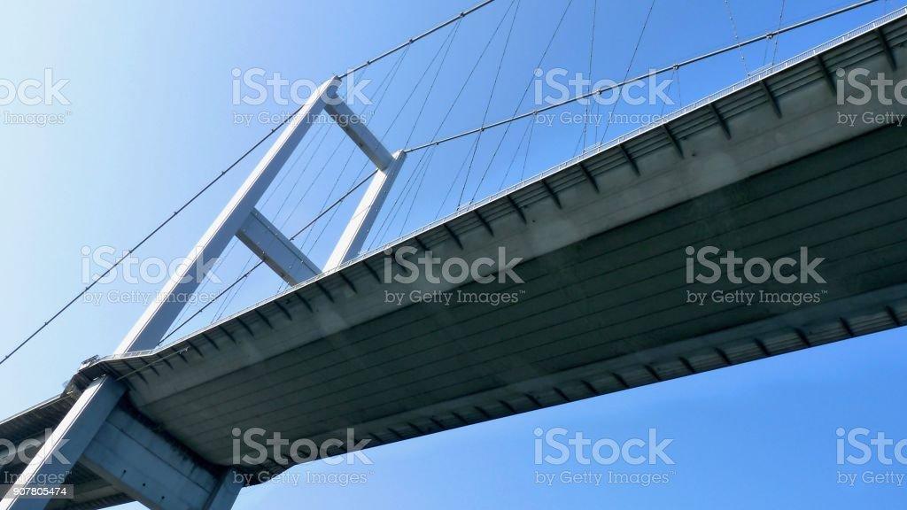 Bosporus, 15 July Martyrs Bridge stock photo