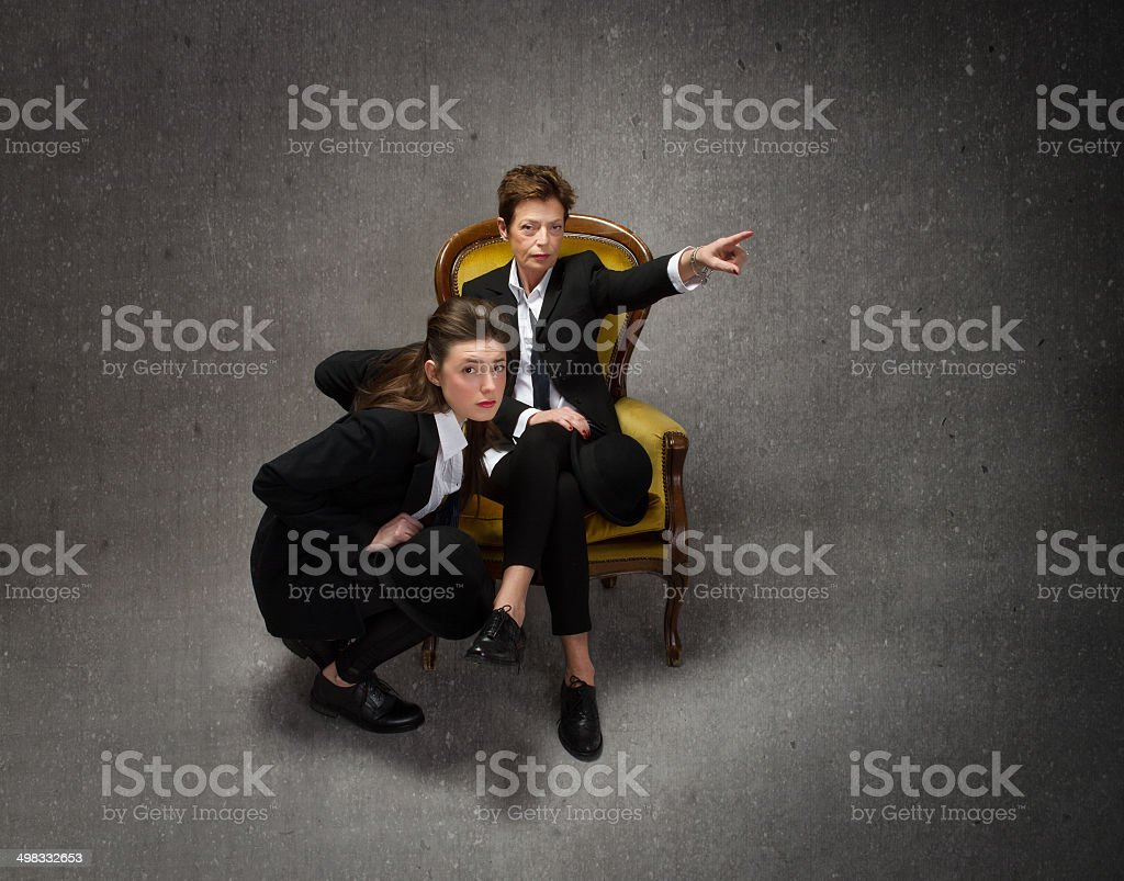 boss and assistant role stock photo