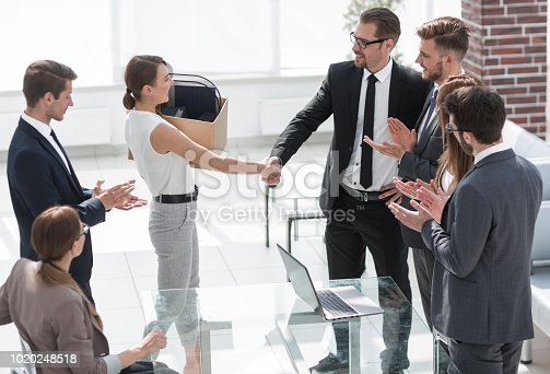 639540494 istock photo boss and the new employee shaking hands with each other 1020248518