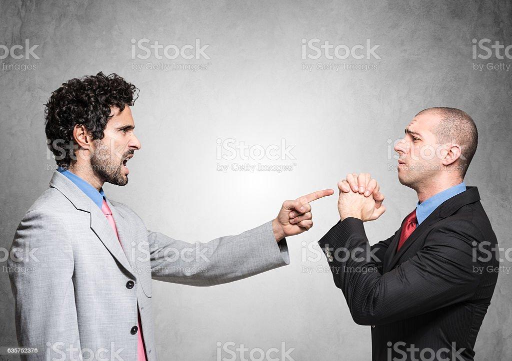 Boss firing an employee stock photo