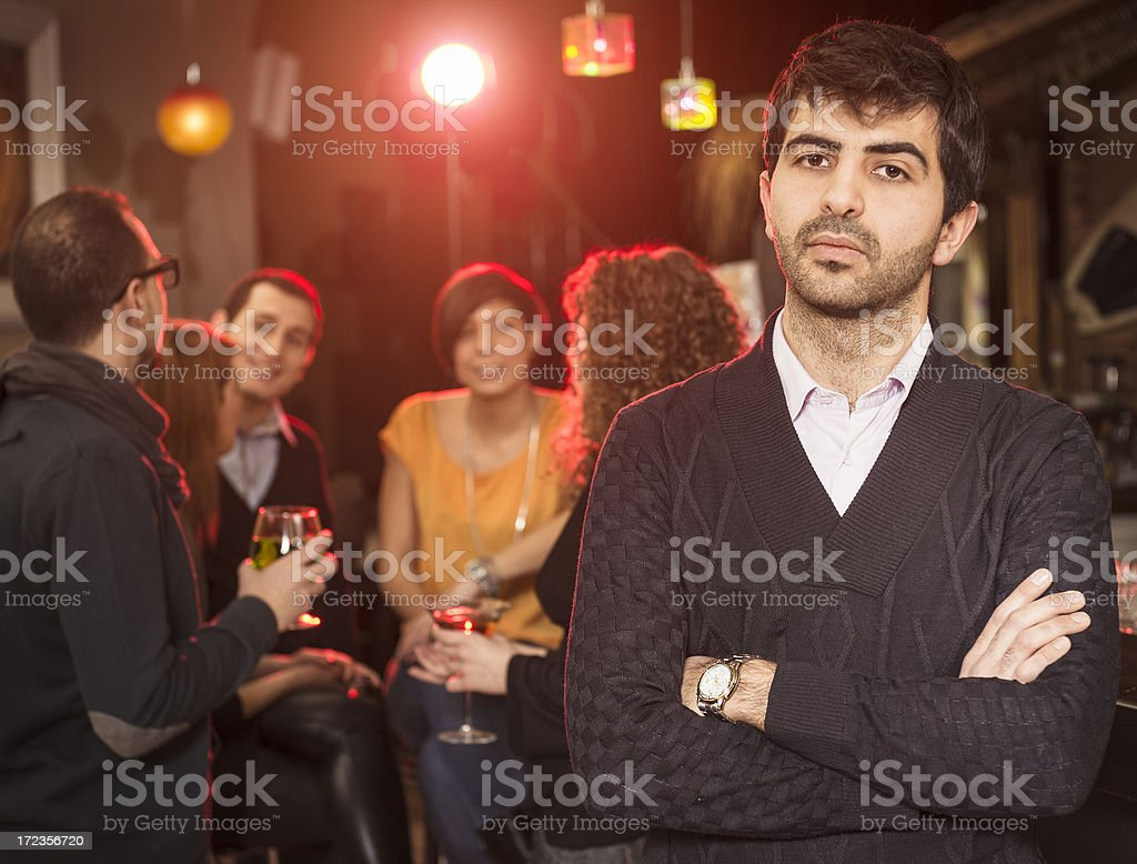 Boss of the disco club royalty-free stock photo