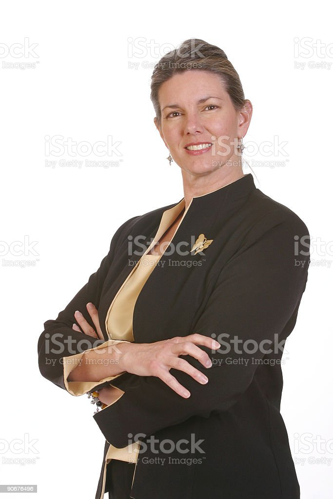Boss - The businesswoman royalty-free stock photo