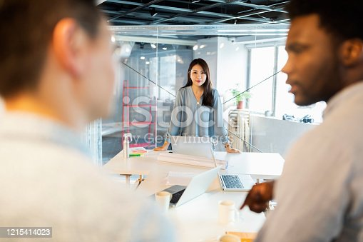 609072850 istock photo Boss waiting them for a briefing 1215414023