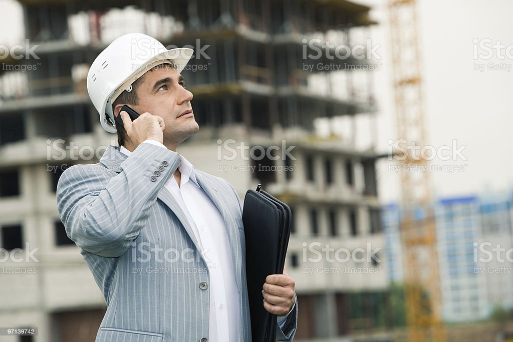 Boss with helmet - Royalty-free Adult Stock Photo