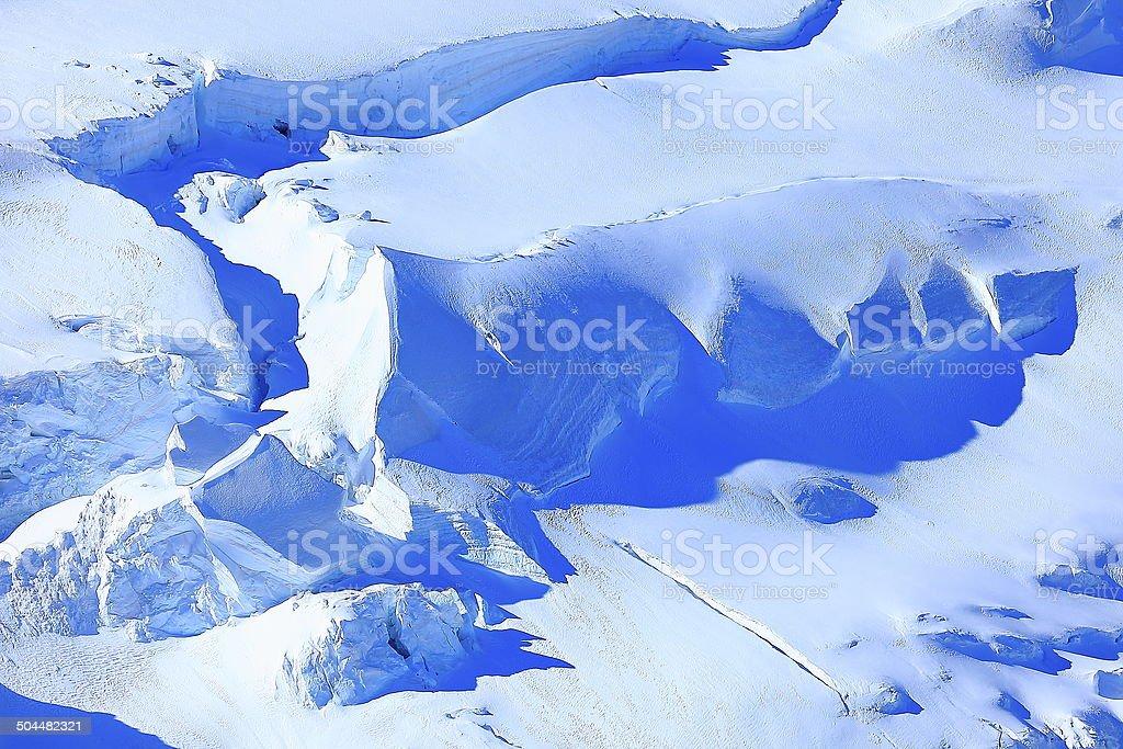 Bossons Glacier abstract, Chamonix, Mont Blanc Massif, French Alps stock photo