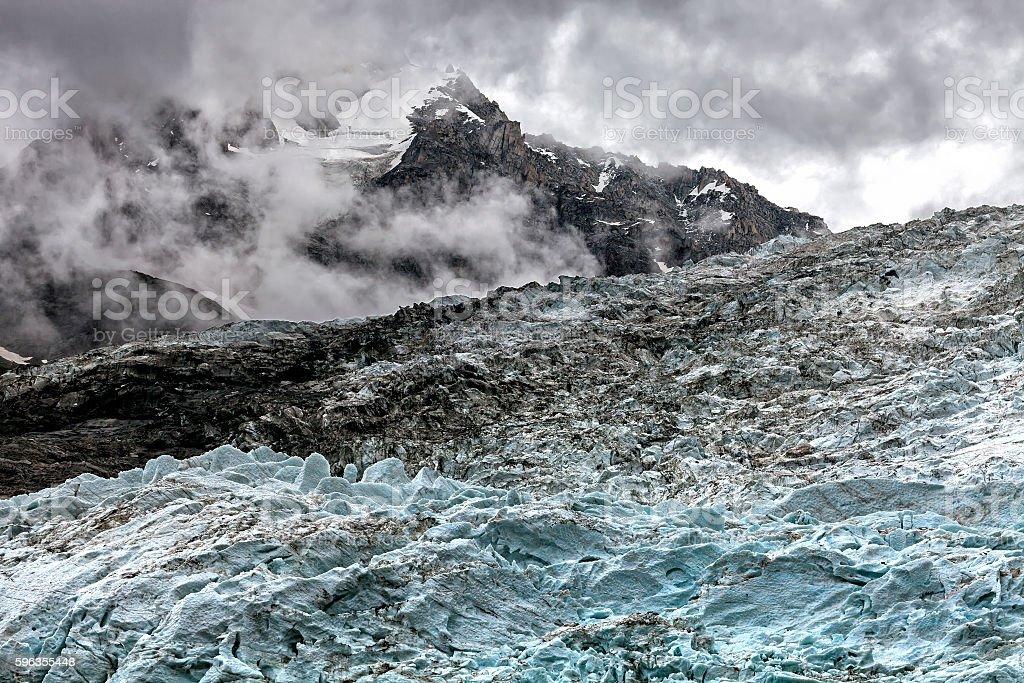 Bossons Glacier royalty-free stock photo