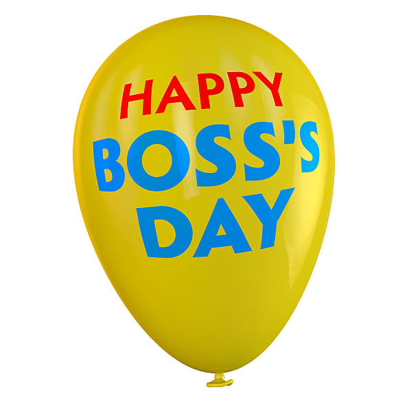 Boss's Day Balloon Happy Boss's Day balloon. boss's day stock pictures, royalty-free photos & images