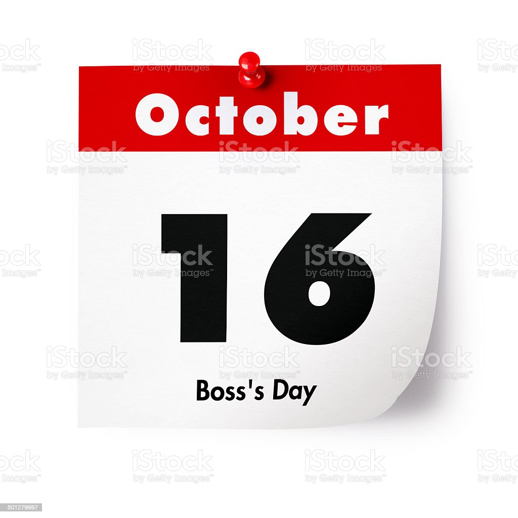 Boss's Day in 2015 stock photo