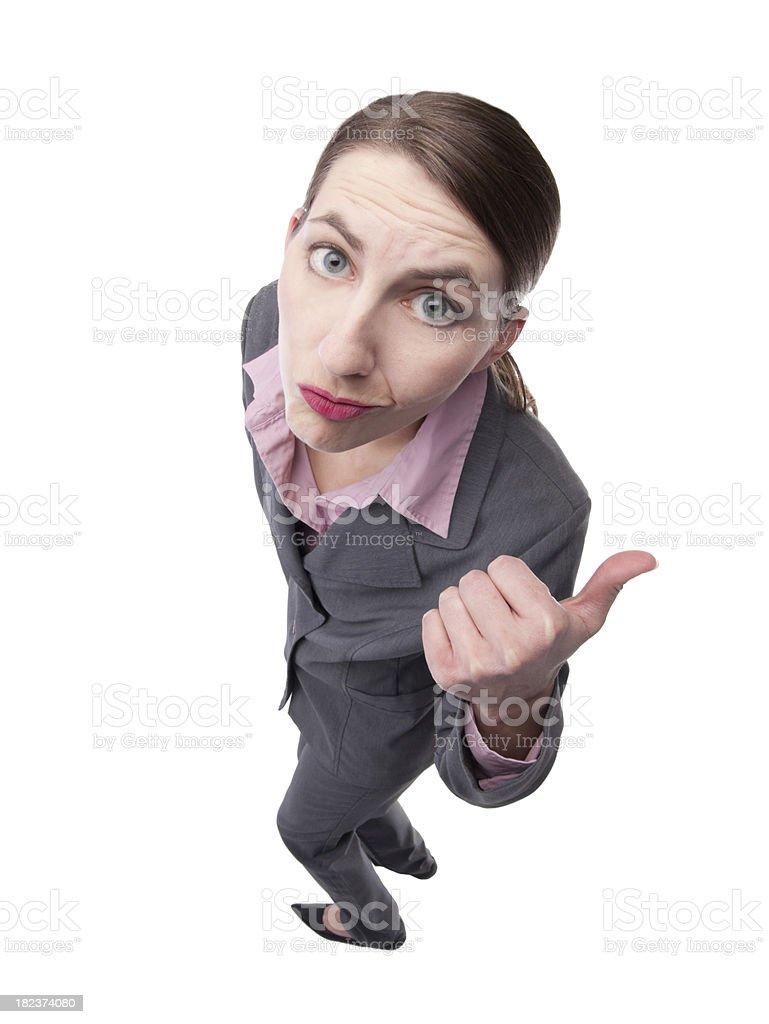 Bossy Business Woman stock photo
