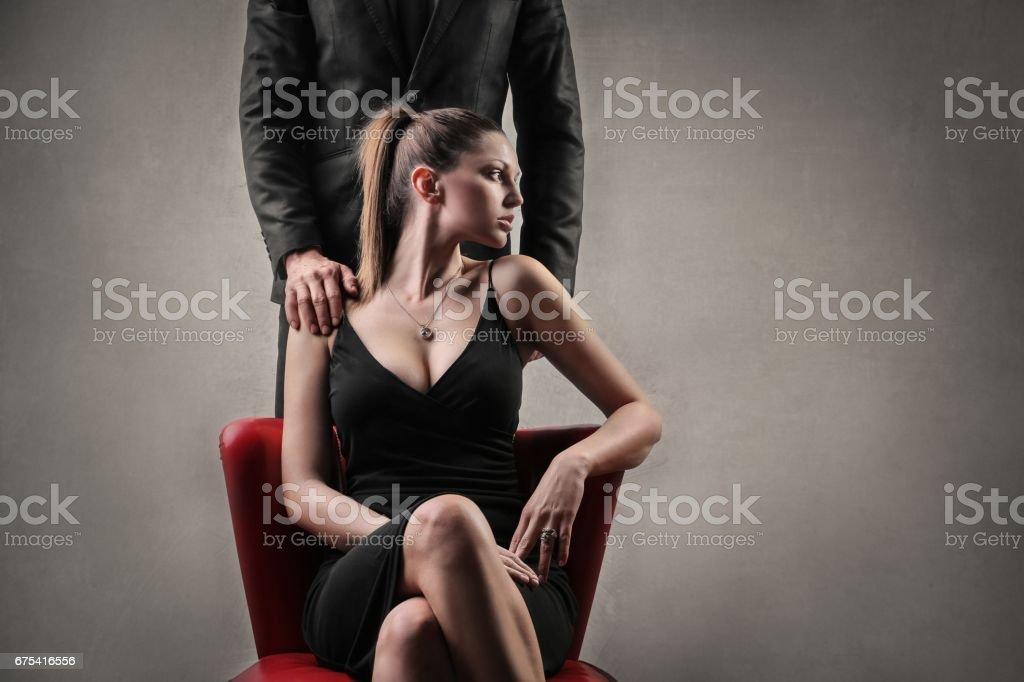 Bossy woman stock photo