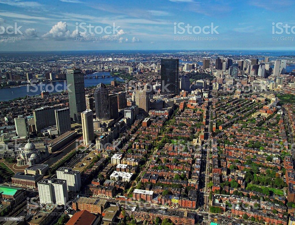 Boston Aerial royalty-free stock photo