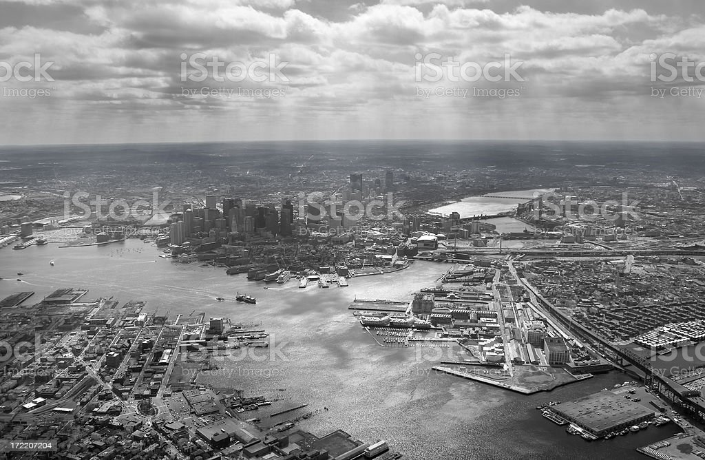 Boston Aerial stock photo