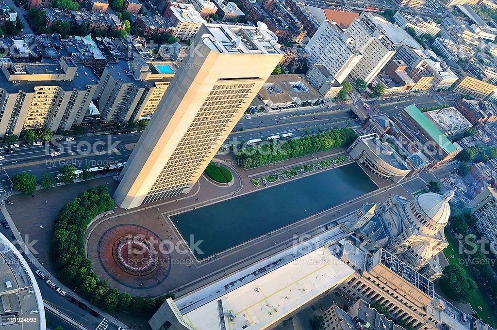 Boston aerial view royalty-free stock photo
