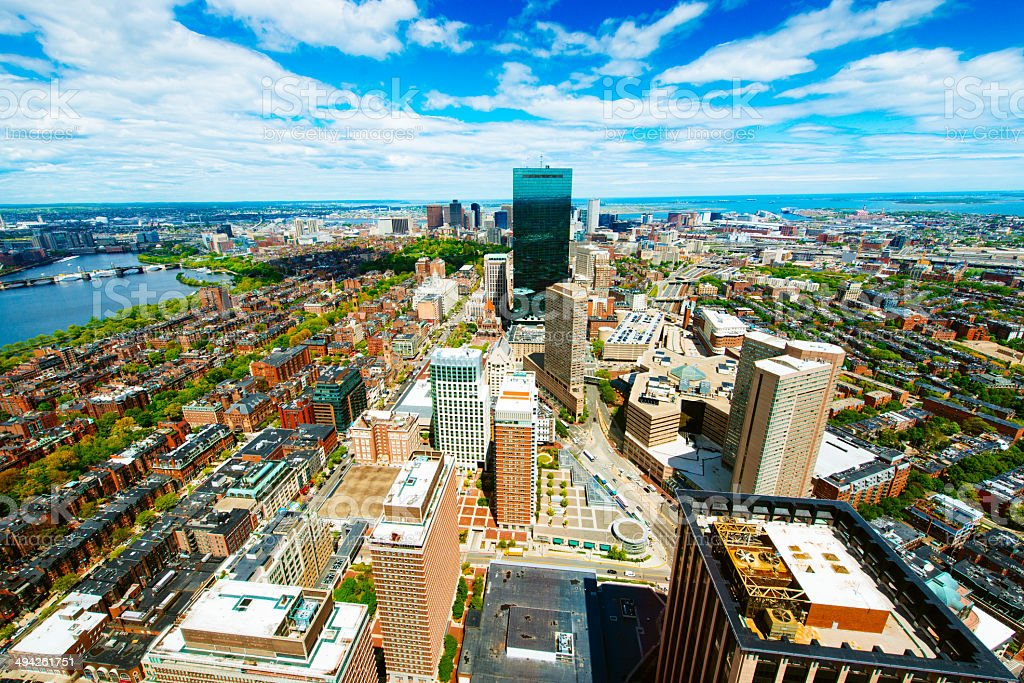 Boston Aerial View stock photo