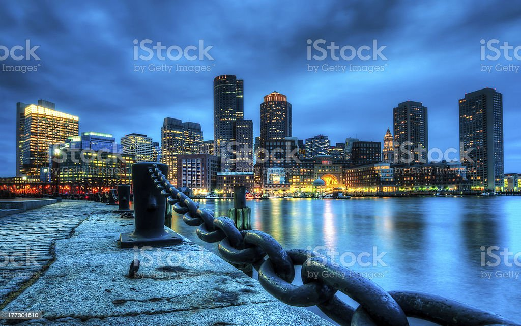 Boston and Charles river stock photo