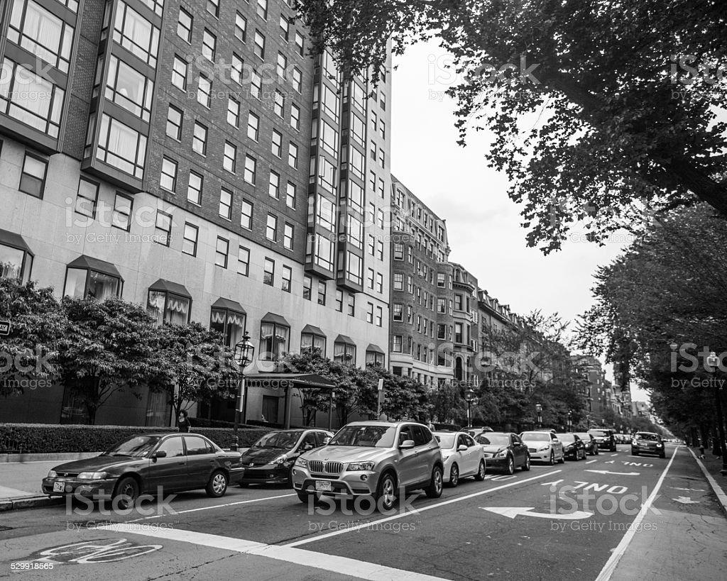 Boston apartment buildings stock photo