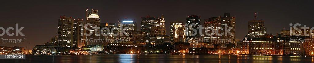 Boston at night royalty-free stock photo