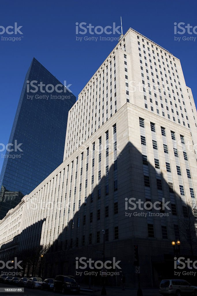 Boston Back Bay Hancock Buildings royalty-free stock photo