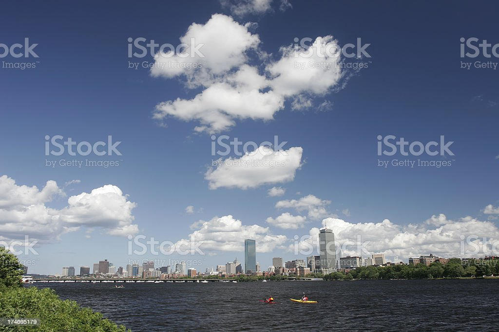 Boston Back Bay royalty-free stock photo
