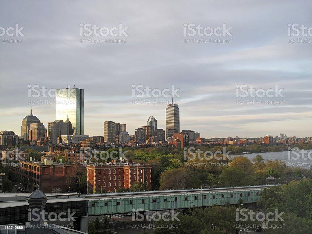 Boston Back Bay Skyline At Dawn royalty-free stock photo