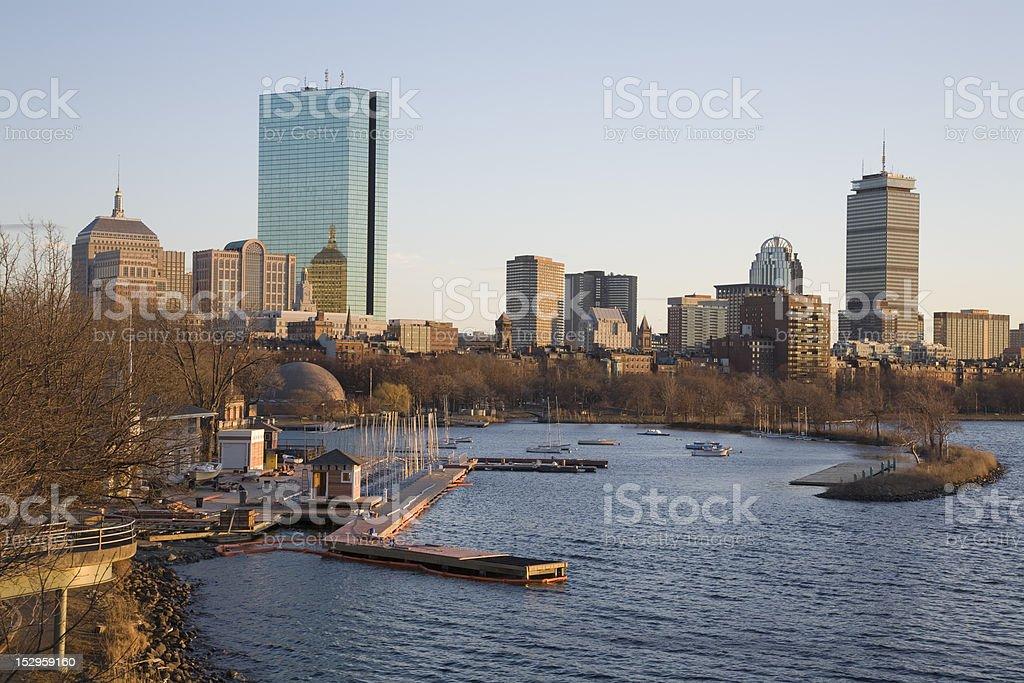 Boston Back Bay Skyline royalty-free stock photo