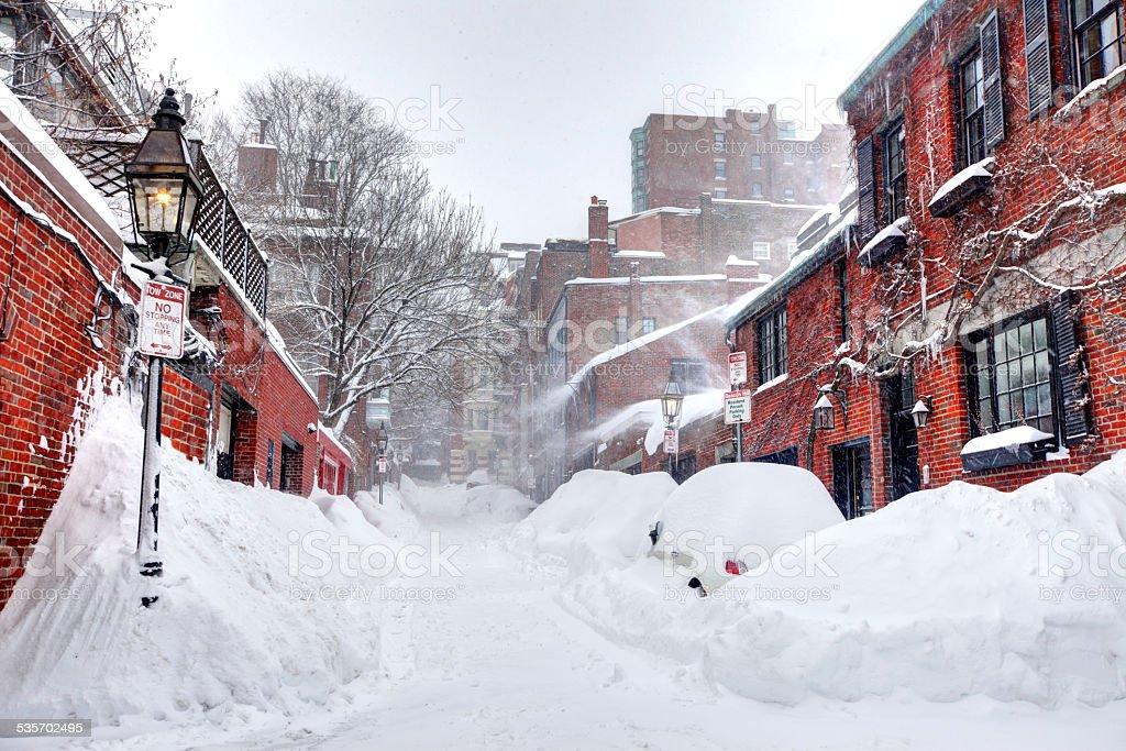 Boston Blizzard of 2015 stock photo