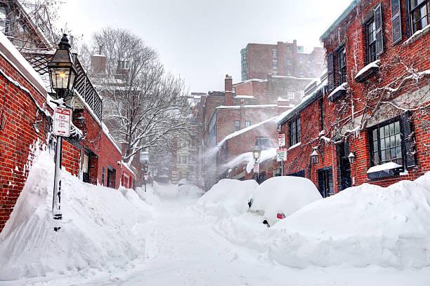 boston blizzard of 2015 - 2015 bildbanksfoton och bilder