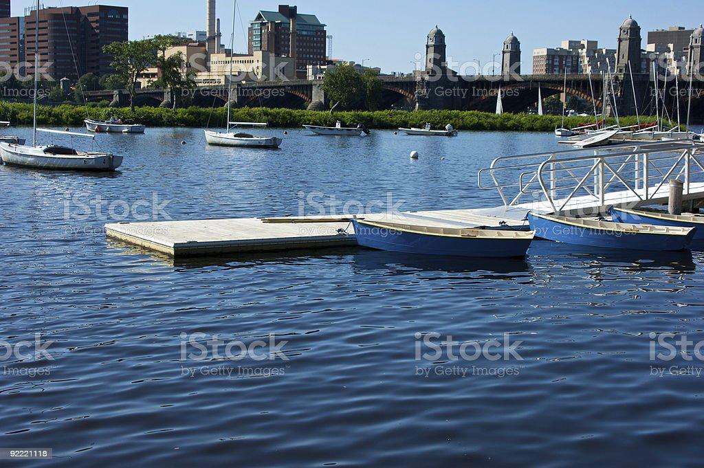 boston boating royalty-free stock photo