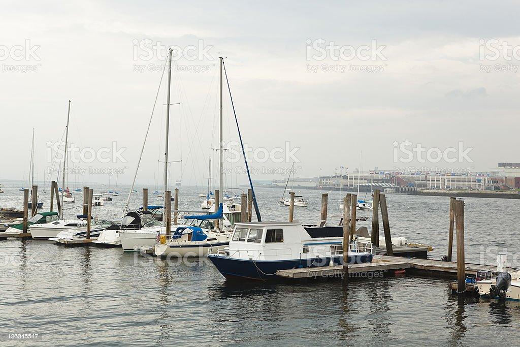 boston: boats at central wharf royalty-free stock photo