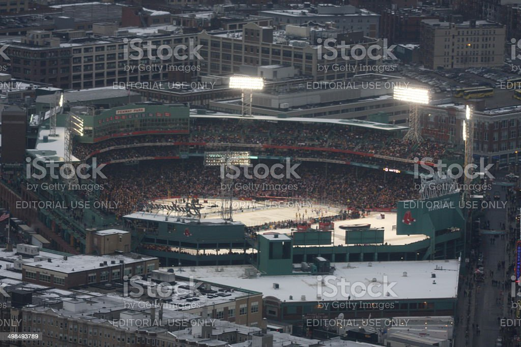 Boston Bruins play in Fenway park stock photo