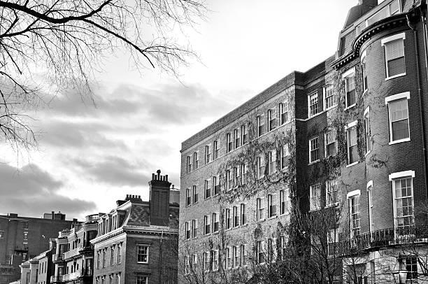 boston - buildings - boston marathon stock photos and pictures
